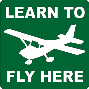 Learn To Fly Sign - single